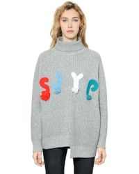 Steve J & Yoni P - Logo Turtleneck Wool Blend Sweater - Lyst