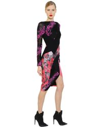Antonio Berardi - Floral Flocked Lace & Scuba Dress - Lyst