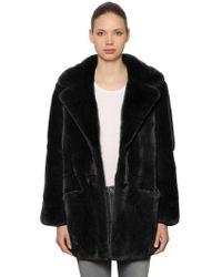 Yves Salomon - Rex Rabbit Fur Coat - Lyst