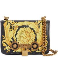 Versace - Small Baroque Print Leather Shoulder Bag - Lyst