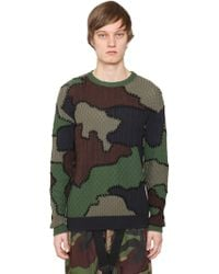 Moschino - Camouflage Intarsia Virgin Wool Jumper - Lyst