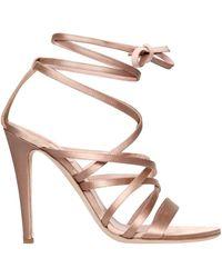 Alberta Ferretti - 105mm Satin Lace-up Sandals - Lyst