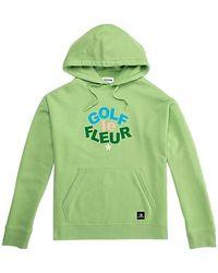 Converse - Golf Le Fleur Hooded Cotton Sweatshirt - Lyst
