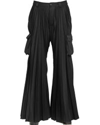 Hood By Air - Pleated Flared Cargo Pants - Lyst