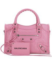 Balenciaga - Mini City Leather Strap Logo Bag - Lyst