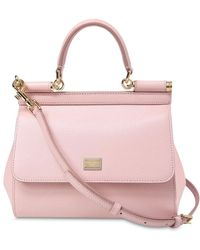 Dolce   Gabbana - Small Sicily Dauphine Leather Bag - Lyst 0a3d214b55fb2