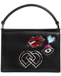 DSquared² - Medium Leather Bag W/ Appliqués - Lyst
