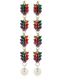 Anton Heunis - Long Tiny Leaf Drop Earrings - Lyst