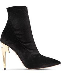 Giuseppe Zanotti - 105mm Stretch Velvet Ankle Boots - Lyst