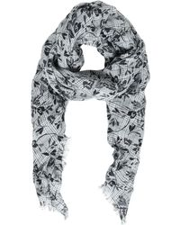 Destin Surl - Floral Printed Woven Linen Scarf - Lyst