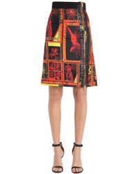 Fausto Puglisi - Printed Silk Twill Mini Skirt - Lyst