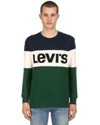 Levi's - Logo Colour Block Cotton Sweatshirt - Lyst