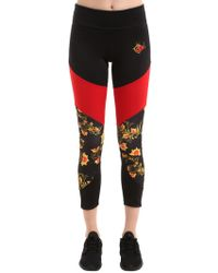 Nike - Standout Printed Stretch Cotton Leggings - Lyst