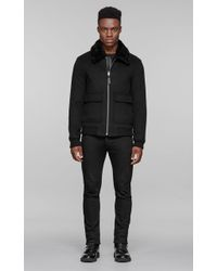 Mackage - Aeron Brushed Wool Jacket With Removable Collar - Black - 36 - Lyst