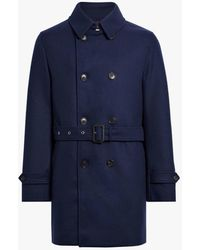 Mackintosh - Ink Wool Short Trench Coat Gm-005f - Lyst