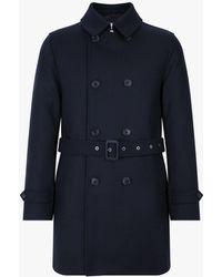 Mackintosh - Navy Wool Short Trench Coat Gm-005f - Lyst