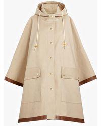 Mackintosh - Putty Bonded Cotton Hooded Poncho Lr-088 - Lyst