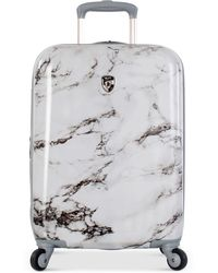 "Heys - Bianco Stone Printed 21"" Hardside Spinner Suitcase - Lyst"