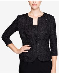Alex Evenings | Sequined Textured Jacket & Shell | Lyst