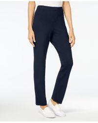 Karen Scott - Petite Comfort Pull-on Pants, Created For Macy's - Lyst