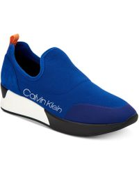 Calvin Klein - Que Knit Sneakers - Lyst