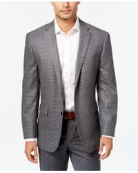 Vince Camuto | Men's Slim-fit Gray Micro-check Wool Sport Coat | Lyst