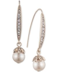 Marchesa - Pavé & Imitation Pearl Drop Earrings - Lyst