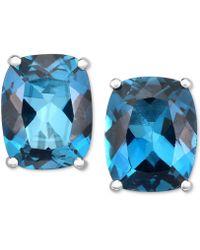 Macy's - London Blue Topaz Stud Earrings (6 Ct. T.w.) In 14k White Gold - Lyst