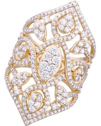 Wrapped in Love - Tm Diamond Openwork Statement Ring (2 Ct. T.w.) In 14k Gold, Created For Macy's - Lyst