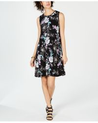 9c27fe31c8371 Style & Co. Petite Sleeveless Printed Shift Dress, Created For Macy's in  Blue - Lyst