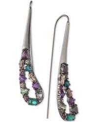 f71aa950c Lauren by Ralph Lauren Hematite-Tone Blue Stone Square Stud Earrings ...