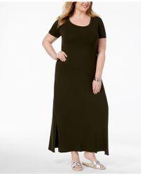 Style & Co. - Plus Size T-shirt Maxi Dress - Lyst