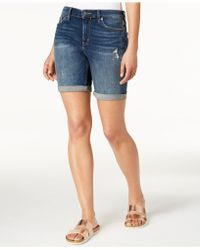Calvin Klein Jeans - City Ripped Denim Shorts - Lyst