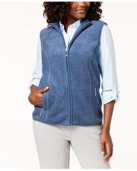 1b491538a79b7 Karen Scott - Zeroproof Fleece Stand Collar Vest