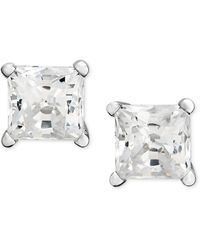 Macy's - Princess-cut Diamond Stud Earrings In 14k White Gold & Yellow Gold (3/4 Ct. T.w.) - Lyst