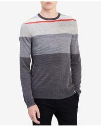 Calvin Klein   Men's Fancy Texture Stripe Sweater   Lyst