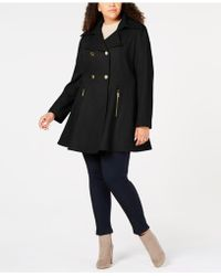 Laundry by Shelli Segal - Plus Size Skirted Peacoat - Lyst