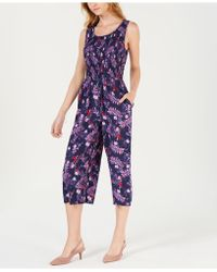 Maison Jules - Printed Cropped Jumpsuit, Created For Macy's - Lyst