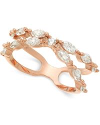 Charter Club - Rose Gold-tone Crystal X-band Ring, Created For Macy's - Lyst