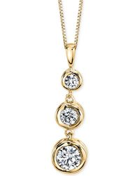 Sirena - Diamond Three-stone Pendant Necklace (1/4 Ct. T.w.) In 14k Yellow Or White Gold - Lyst