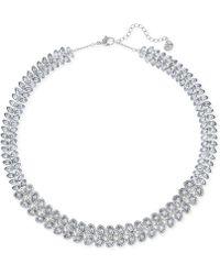 Swarovski - Baron Rhodium-tone All-around Crystal Necklace - Lyst