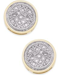 Macy's - Diamond Accent Button Stud Earrings - Lyst