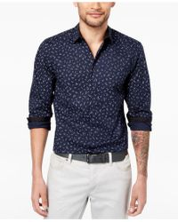 INC International Concepts - Stretch Wheat-print Shirt, Created For Macy's - Lyst