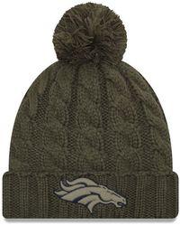 14a2eb14d3dca KTZ - Denver Broncos Salute To Service Pom Knit Hat - Lyst