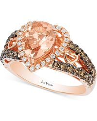 Le Vian - Morganite (1-1/5 Ct. T.w.) And Diamond (2/3 Ct. T.w.) Ring In 14k Rose Gold - Lyst