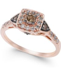 Le Vian - Chocolate By Petite Chocolate And White Diamond Ring (3/8 Ct. T.w.) In 14k Rose Gold - Lyst