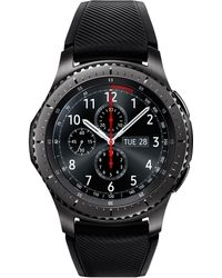 Samsung - Men's Gear S3 Frontier Chronograph Smart Watch With 46mm Silicone Case & Black Sport Strap Sm-r760ndaaxar - Lyst