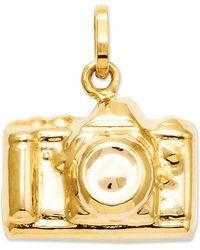 Macy's - 14k Gold Charm, Camera Charm - Lyst