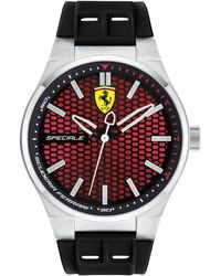 Ferrari - Men's Speciale 3h Black Silicone Strap Watch 44mm 0830353 - Lyst