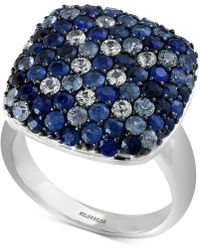 Effy Collection - Effy® Sapphire Ring (3-1/5 Ct. T.w.) In Sterling Silver - Lyst